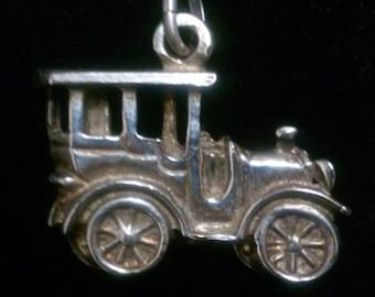 Beep! Beep! Here comes The Cutest Sterling Silver Vintage Car Pendant!