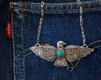 Sterling Silver Thunderbird Necklace