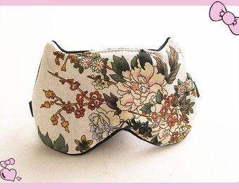 Sleep Mask Cat Sleep Mask for Women Floral Mask Travel SleepMask Bachelorette Party Mask.