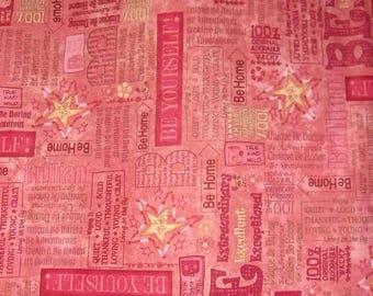 Tissu coton Patchwork imprimé collage d'annonces  Folk Art Américain