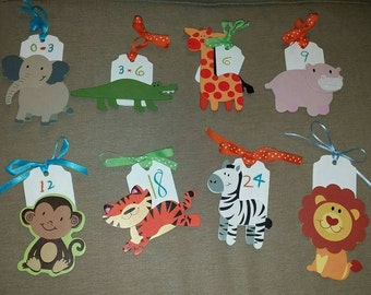 8 Piece Baby Clothing Closet Dividers - Animal Dividers - Gender Neutral Nursery - Baby Shower Gift-Nursery Organization