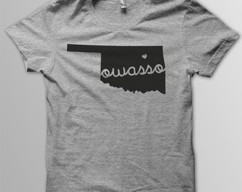 Custom OKLAHOMA Hometown American Apparel Tri blend Tshirt