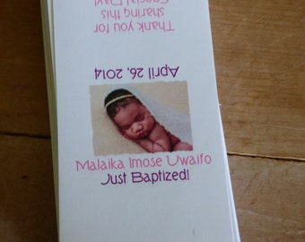 Custom Photo Mini Candy Bar Wrappers Childs Baptism, Christening, First Holy Communion Chocolate Religious Party Favor