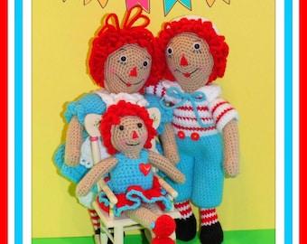 Classic Crochet Rag Dolls Pattern©