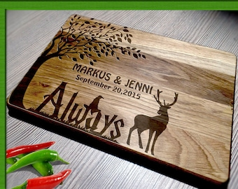 Wedding Gift Cutting Board / harry potter wedding gift / Bride and Groom / Personalized Cutting Board / Harry Potter cutting board