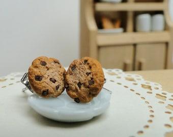 Chocolate Chip Cookie Earrings - Fimo Food