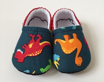 Dinosaur baby booties, slippers, crib shoes, shoes