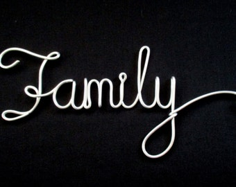 wire word family. wire words. wire script words. wire word art. hanging words. wire writing. wire cursive words. decorative word signs