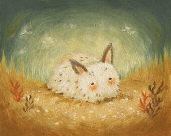 The Sea Bunny Print 10x8 - Bunny Print, Bunny Art, Kids Art, Bunny Art Print, Nautical Nursery Art, Nautical Baby Art, Ocean, Under The Sea