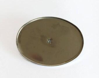 10pcs Vintage oval brooch settings - oval pad - oval setting - bezel setting - pin - large pin - large brooch - blanks