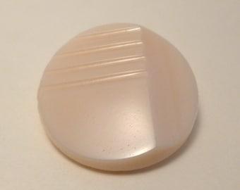 Glass button - very light pink - 27mm
