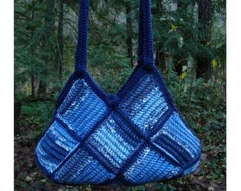 Patchwork Squares Bag – PA-216 - Crochet Pattern PDF