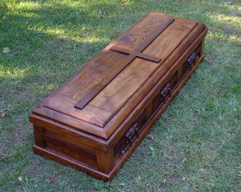 Free Shipping - Hand Built Reclaimed Wood Casket