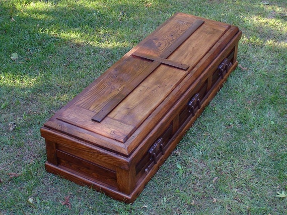 Free Shipping Hand Built Reclaimed Wood Casket