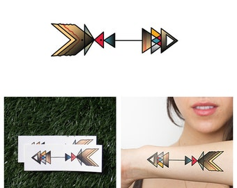 Gold Tipped - Temporary Tattoo (Set of 2)