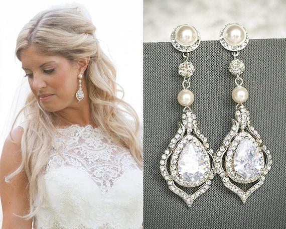 Torilyn Wedding Earrings Bridal Earrings Vintage Style