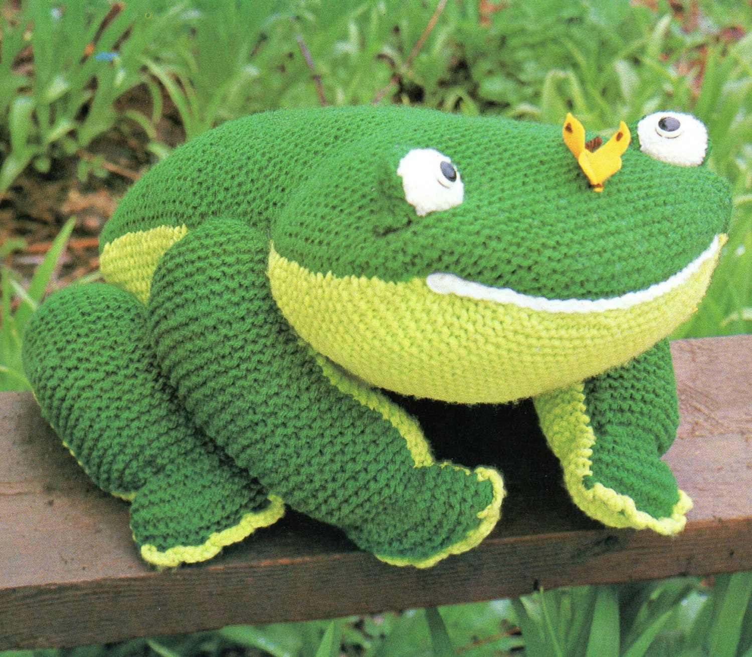 Large Amigurumi Frog Animal Toy Pillow for Baby Knit Pattern