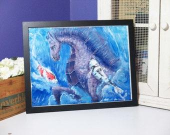 Ocean Horse original acrylic painting