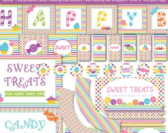 Sweet Shop Candy Land Printable Party Kit, Instant Download - Birthday Party - Digital File, PRINTABLE, D.I.Y.