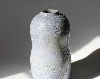SOLD--Unique Bumpy Turquoise Vase