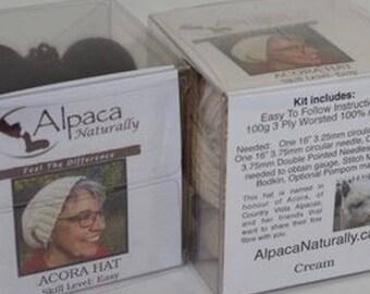 Alpaca Naturally Acora Hat Kit