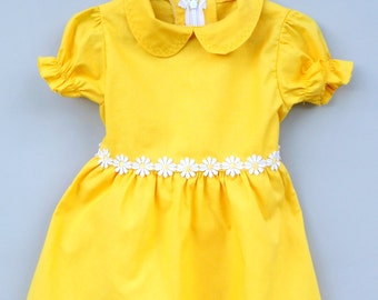 Yellow dress, Baby girl dress, Colourful dress, Baby clothes, Baby girl, Dress, Cotton baby dress, Toddler dress, Baby party dress, Clothing