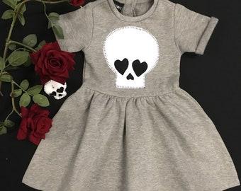 Skeletots Grey skull dress