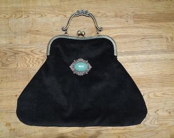 sac bourse vintage style retro 20 cm (37 en bas) de largeur x 26 cm de hauteur