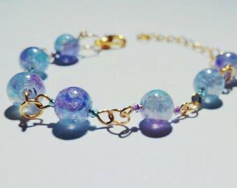 Purple blue bracelet