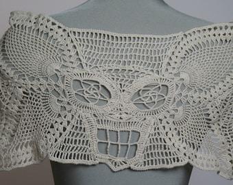Crochet Skull Wrap