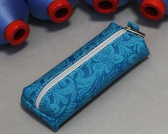 Turquoise key purse, Blue key purse, Floral key purse,Floral print key purse,Womens key pouch,womans key holder,Small zipper purse,Turquoise