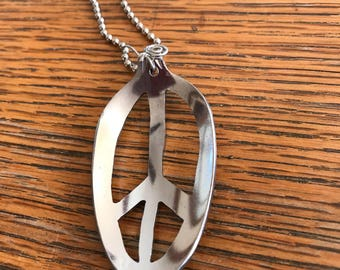 Peace sign necklace - spoon necklace