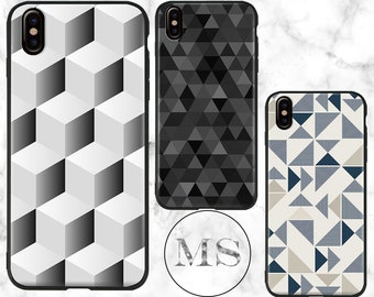 Optical illusion, Geometric, Triangle, Abstract case for iPhone X, 8, 8 Plus, 7, 7 Plus, 6s, 6s Plus, 6, 6 Plus, 5, 5s, SE