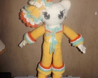 Tutorial for making all frou-frou for crochet cat doll