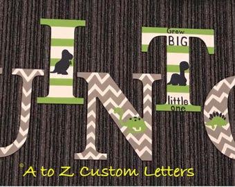 Dinosaur nursery letters