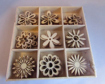 Wooden Box of Flowers