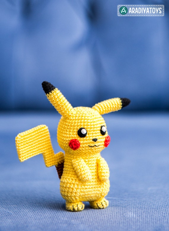 Crochet Pattern of Pikachu from Pokemon Amigurumi