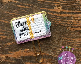 Plan With Me  | Planner Clip | Bookmark