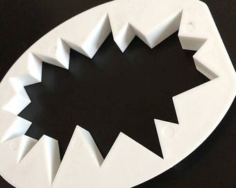 Comic Book Pow Cutter Outline - Fondant Cutter - Cookie Cutters - Fondant Cake Mold - Craft Tools - DIY - CC0049