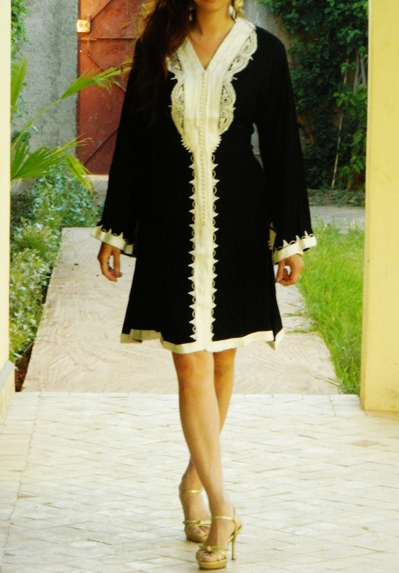 Black Marrakech Dress - perfect for resort wear, holidays, birthday gifts, resort wear, Ramadan, Eid