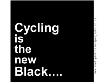 Cycling card - Cycling is the new black