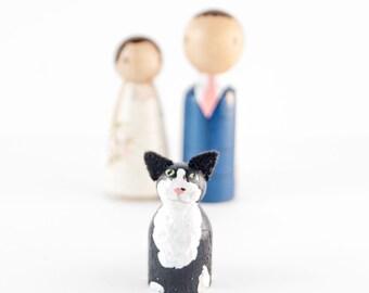Cat Wedding Cake Topper - cat wedding - cake toppers with cat - wedding cake topper with cat - cat wedding decor - kitty cat cake topper