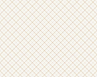 Bee Backgrounds By Lori Holt Grid Orange (C6383-Orange)