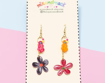 Flower Power Floral Dangle Earrings