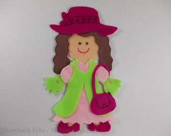 SHOP CLOSING SALE - Felt Doll Outfit Let's Play Dress Up Felt Doll Dress Up Set Without Doll Felt Doll Paper Doll Non Paper Doll