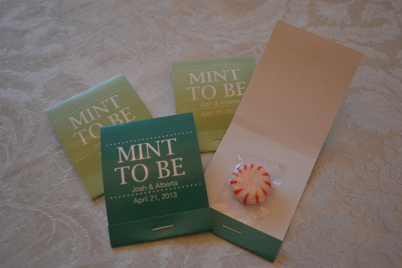 100 Custom Mint To Be Wedding Favor