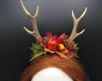 antlers, antler headdress, deer headpiece, woodland, fantasy, forrest, witch, headdress, fantasy, deer