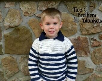 Instant Download- Crochet Pattern- Upper Eastside Sweater