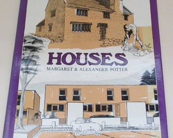 Vintage Architecture and Design Book - Houses by Margaret and Alexander Potter - Great Design Resource