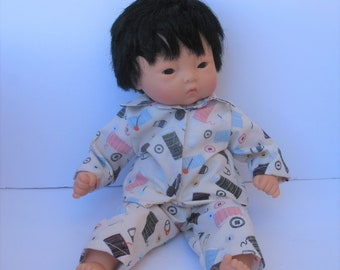 "Clothes for Corolle Mon Premier Calin 12"" Baby Doll Pajamas"